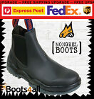 Mongrel Men's Work Boots Black Leather Non Steel Toe Slip On 916020 ON SALE