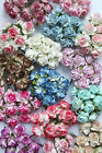 10 Mulberry Paper Wild Rose Flowers 30mm With Wire Stems For Card Making Craft