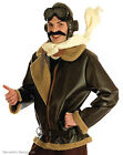 MENS WW2 1940s FIGHTER PILOT AVIATOR BIGGLES AIRMAN FANCY DRESS COSTUME OUTFIT