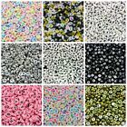 500 x 7mm Random Mix 7mm Round Alphabet Letter Beads Kids Beading Crafts ML