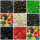 8mm Round / Rondelle Wooden Beads Jewellery Craft Hobbies Kids * PICK COLOUR