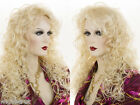 Long Medium Wig Pro Wavy Curly Blonde Brunette Red Wigs 3/4 Cap