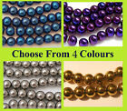 Metallic Electroplated Glass Beads 8mm - Choice of Colours BD085 (FREE POSTAGE)