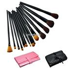 Nice Pretty Makeup Brush Set Kit With Roll Up Bag Case Pro Cosmetic Tool N98B