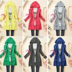 N98B Women Long-sleeve Knitted Sweater Outerwear Medium-long Hoodies Cardigan