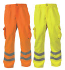 Blackrock Polycotton Work Trousers Hi Vis Yellow High Viz Orange Cargo Pants New