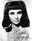 ELIZABETH TAYLOR (CLEOPATRA) SIGNED PHOTO PRINT 03