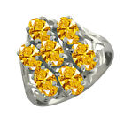 Nirano Golden Yellow 14K White Gold Ring Made With Swarovski Zirconia