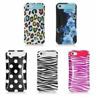 For Apple iPhone 5C Lite Cover Glow Design 2 Layer Case Hard Soft Smooth Cover