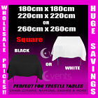 Tablecloths Wedding Square Event Party Black White Table Cloth