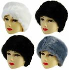 Ladies Plush Faux Fur Headband Ear Warmers 3 colours.FREE fast post 1st class