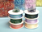 "1/8"" x 50 yards PULL String Organza RIBBON for Wedding FAVORS Bows Decorations"