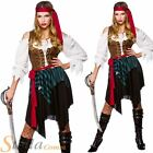Ladies Caribbean Pirate Wench Fancy Dress Costume Womens Adults Outfit Size 6-24