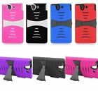 For Sony Xperia Z L36H C6603 Cover Heavy Duty Kickstand Hard Soft Case