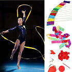4M Gym Dance Ribbon Rhythmic Art Gymnastic 11 Colors Streamer Twirling Rod Stick