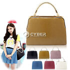 DZ8 New Women Girl Snake Pattern synthetic  Leather Handbag Shoulder Bag 6Colors