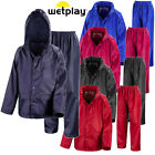 Childs Waterproof Suit Jacket & Trousers Rain Set Kids Childrens Boys Girls Pack