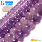 "Round Light Amethyst Beads Jewelry Making Gemstone Loose Beads15"" Free Shipping"