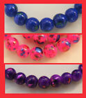 100+ Metallic Spray-Painted Glass Beads - 8mm - Choice of Colours