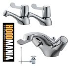Amber Chrome Easy Lever wash hand basin mixer tap pop up waste low pres 0.2 bar