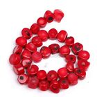 New Red Natural Coral Gemstone 10*12mm Nugget Loose Spacer Beads 16'' Strand