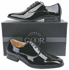 Mens New Black  Leather Lined Patent Formal Wedding Shoes Free UK Shipping