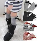 New Kids Girls Cotton Bow Soft Knee High Socks 2-8Y Tights Leggings For Kids