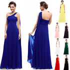 BNWT One Shoulder Empire Line Maxi Prom Evening Long Bridesmaid Dress UK 6-18