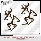 "Set of 2 - Browning Double Deer Family Hunting Vinyl Decal Sticker 8"" X 5.5"""