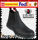 Redback Work Station Boots Black Leather Non Steel Toe Easy Escape UBBK WITH BOX