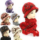 1920 Vintage Style Cloche/Crochet/knitted/Handmade Hat and Scarf Set 3BF