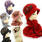 1920 Vintage Style Cloche/Crochet/knitted/Handmade Hat and Scarf Set F3L