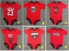 New Air Jordan Infant Baby Boy Red One Piece Bodysuit 9-12 Months