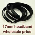 17MM HEADBAND covered satin WHOLESALE LOTS HAIRBAND ACCESSORY PLASTICS