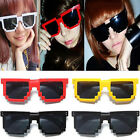 Hot Sale Retro Trendy Unisex Mosaic Glasses Pixelated Style Square Sunglasses
