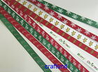"10-00 yards x 3/8"" (~10mm) printed Satin Ribbon Christmas Party U PICK"