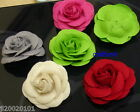 5-20 pcs Big Felt Rose 3D Flower Applique 60mm A050 U PICK