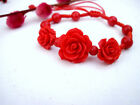 Red Lacquer rose bracelet different choices