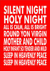 Silent Night Holy Night Christmas Carol Lyrics Print Poster Various Sizes