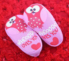 Toddler Baby Girl Owl Soft Cotton Crib Shoes Size Newborn to 18 Months