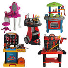 Kids Toy Dressing Table Mirror Kitchen Set Tool Bench Role Play DIY Pretend Game