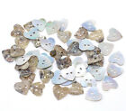 25 50 Mother of Pearl Buttons Round Square Hearts 11 12 15 mm sewing scrapbook