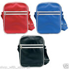 NEW PVC RETRO SHOULDER BAG - CARRY BAG TO FIT IPAD & TABLET / COLLEGE WORK