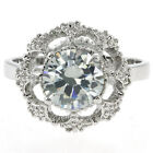4.00 Ct White Color Round Cubic Zirconia CZ 925 Sterling Silver Ring