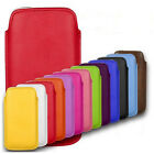 HTC ONE X+ X PLUS PULL TAB POUCH CASE PU LEATHER COVER SOCK SLIM SOFT - BARGAIN