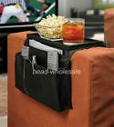 1Pc Hot Sofa Chair Arm Remote Control Cup Holder With Table Top Organizer