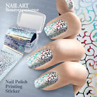 Fashion Lace pattern Nail Art Transfer Foil Nail Sticker Tip Decoration Easy