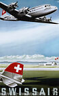 Swiss Air vintage retro print poster, Rare! 4 sizes available, Airline 64