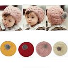 Cute Baby Infant Girls Toddler Winter Warm Knitted Crochet Hat Cap Beanie U