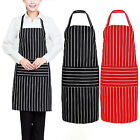 Plain Kitchen Apron with Front Pocket for Chefs Butchers Cooking Baking UK STOCK